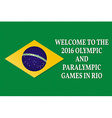 Welcome to the Games 2016 Patriotic banner for vector image