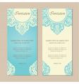 invitation vintage cards blue vector image vector image
