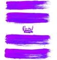 Bright violet acrylic brush strokes vector image vector image