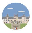 Palace of Fontainebleau vector image