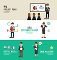 Business position design concept people set presen vector image vector image