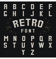 Chicago retro alphabet vector image vector image