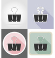 stationery flat icons 07 vector image vector image