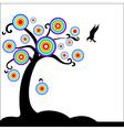 Fantasy tree with bird vector image