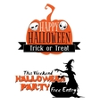 Halloween holiday invitation vector image