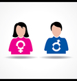 Male Female icon having their symbol stock vector image