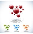 Modern set logotype icon dna and molecule vector image