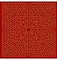 Red Labyrinth Kids Maze vector image