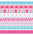 seamless ribbons vector image