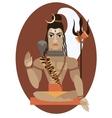 Shiva deity vector image