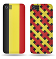 Rear covers smartphone with flags of Belgium vector image