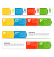 Your next step arrow boxes vector image