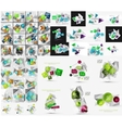 Mega set of infographic templates vector image
