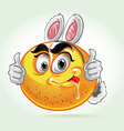 Smile mad white rabbit costume Vector Image