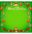 background Christmas with cakes vector image