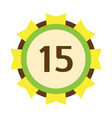 birthday badge fifteenth banner design flat vector image