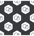 Black hexagon wedding rings pattern vector image