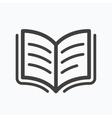 Book icon Study literature sign vector image
