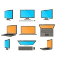 Electronic Device Flat Icons vector image