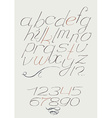 English hand drawn italic type script from a to z vector image