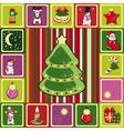frame christmas pattern vector image