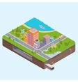 Isometric City Center map vector image