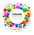 color abstract background from volume balls vector image