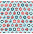uk christmas pattern vector image