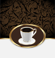 Vintage label for wrapping coffee coffee cup vector image