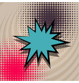 pop art cartoon comic text balloon vector image
