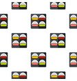 Different sushi pattern seamless vector image