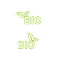 ecology bio icon vector image