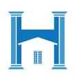 house column vector image