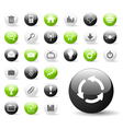 glossy web icon set vector image vector image