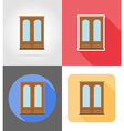 furniture flat icons 01 vector image