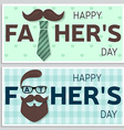 Set of Happy Fathers Day greeting cards Happy vector image