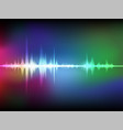 colorful abstract digital sound wave oscillating vector image