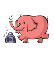elephant dancing vector image