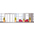 modern office hall building waiting room interior vector image