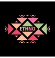 Tribal colorful logo with geometric shapes vector image