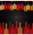 wine glass bottle art design background vector image