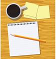Work desk vector image