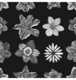 pattern with flowers vector image