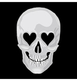scull heart vector image