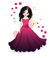 girl in pink dress vector image vector image