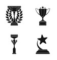 cupwineer cup set collection icons in black style vector image