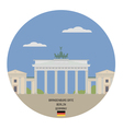 Brandenburg Gate Berlin vector image