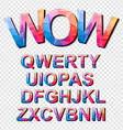 Colorful Funny Simple Font for Cartoon project vector image
