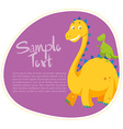 Border design with two dinosaurs vector image