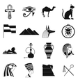 Egypt icons black vector image